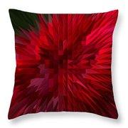Exploding Rose Throw Pillow