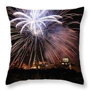Exploding Stars Throw Pillow