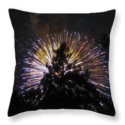Exploding Tree Throw Pillow