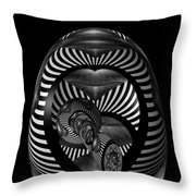 Exploration Into The Unknown Bw Throw Pillow