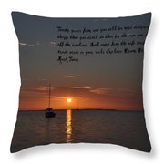 Explore Dream Discover Throw Pillow