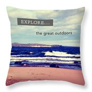 Explore The Great Outdoors Throw Pillow