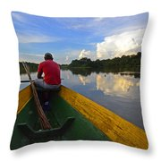 Exploring Amazonia Throw Pillow