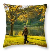Exploring Autumn Light Throw Pillow by Steve Harrington