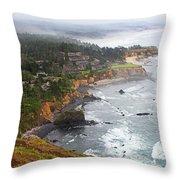 Exploring The Oregon Coast Throw Pillow