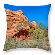 Exploring The Upper Plateau Of Zion Throw Pillow