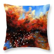 Explosion In The Sky Throw Pillow