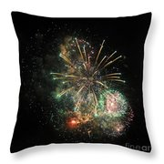 Explosion Of Color On Canada Day Throw Pillow