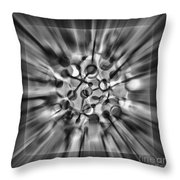 Explosive Abstract Black And White By Kaye Menner Throw Pillow