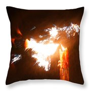 Explosive Candlelight Throw Pillow