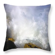 Explosive Throw Pillow by Mike  Dawson