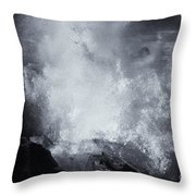 Explosive Sea Throw Pillow