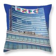 Expo 2015 Sign Throw Pillow