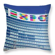 Expo Sign Throw Pillow