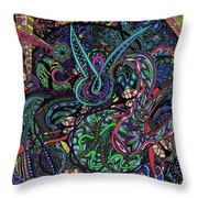 Exporation Of The Deep Blue Throw Pillow