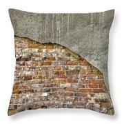 Exposed Brick Throw Pillow