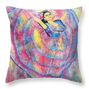 Expressing Her Passion Throw Pillow