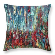 Expressionist Cat Oil Painting.1 Throw Pillow