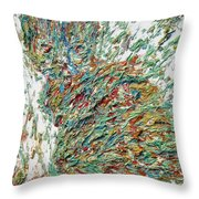Expressionist Cat Oil Painting.2 Throw Pillow