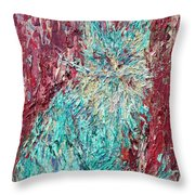 Expressionist Cat Oil Painting.3 Throw Pillow