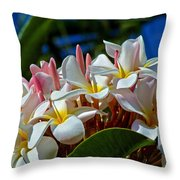 Expressions Of Love - Plumeria Throw Pillow