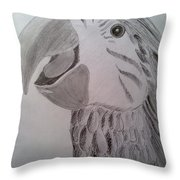 Expressive Parrot Throw Pillow