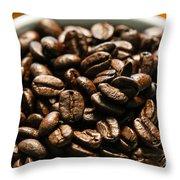 Expresso Beans Throw Pillow
