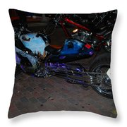 Extended Mt.cycle Throw Pillow