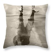 Extension Sepia Throw Pillow