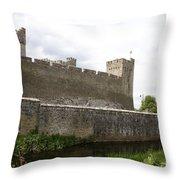 Exterior Of Cahir Castle Throw Pillow