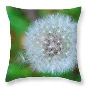 Extra Little Dandelion Wish Throw Pillow