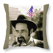 Extra With Flag In Hat The Great White Hope Set Globe Arizona 1969-2008 Throw Pillow