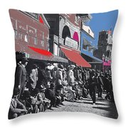Extras The Great White Hope Set Recreation Reno Nevada July 4th 1910  Throw Pillow