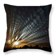 Extraterrestrial Spider Web Throw Pillow