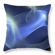 Extraterrestrial Tubing Throw Pillow