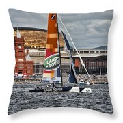 Extreme 40 Team Wales Landrover Throw Pillow