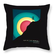 Extreme Disc Golf Throw Pillow