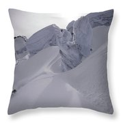 Extreme Skier Going Fast In Beautiful Throw Pillow