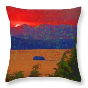Extreme Sunset Throw Pillow
