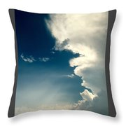 Extreme Weather On Its Way Throw Pillow