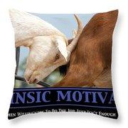 Extrinsic Motivation De-motivational Poster Throw Pillow