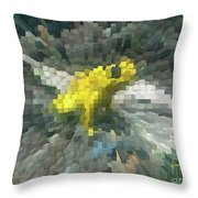 Extrude Yellow Frog Throw Pillow