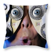 Eye Exam Throw Pillow