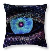 Eye In The Sky Throw Pillow by Joann Vitali