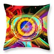 Eye Of Horus Throw Pillow by Eleni Mac Synodinos