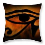 Eye Of Horus Eye Of Ra Throw Pillow