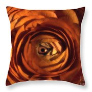 Eye Of The Bloom Throw Pillow