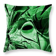 Eye Of The Crystal Dragon Throw Pillow