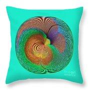 Eye Of The Peacock Orb Throw Pillow