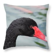 Eye Of The Swan Throw Pillow